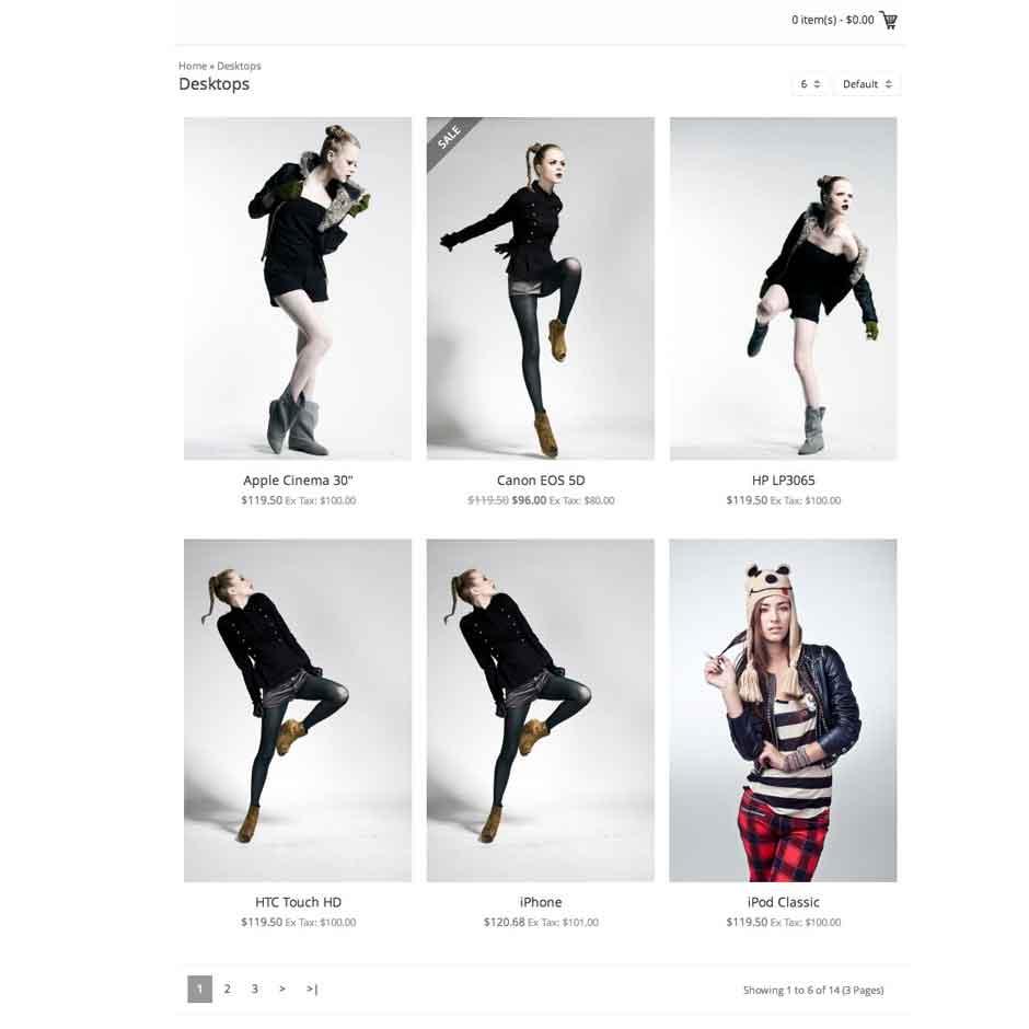 Готовый сайт торговли женским